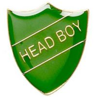 ShieldBadge Head Boy Green</br>SB017G